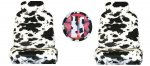 Cow Print 7-piece Lowback Seat Covers / Steering Wheel Cover / S
