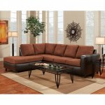 Exceptional Designs Aruba Chocolate Microfiber L-Shaped Sectiona