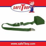 2pt Dark Green Retractable Standard buckle - Each