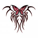 Claw Tribal Butterfly Decal Sticker