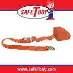 2pt Orange Retractable Standard buckle - Each