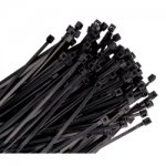 WIRE TIE 4IN. BLACK 100/PK 18LB TENSILE