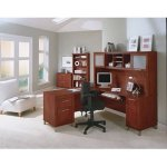 "Bush Somerset 71"" L-Shaped Computer Desk and Hutch Set, Multiple"
