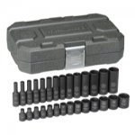 "28 Pc. 1/4"" Drive Impact Socket Set Metric"