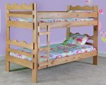 Simply Bunk Bed 703B Twin Over Twin Scallop Design
