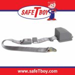 2pt Gray/Grey Retractable Standard buckle - Each