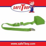 2pt Green Retractable Standard buckle - Each