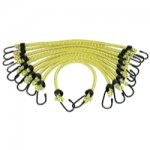 10PK BUNGEE CORD 3/8IN. X 18IN. GENERAL PURPOSE