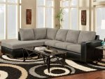 Sensation Grey Microfiber L-Shaped Sectional