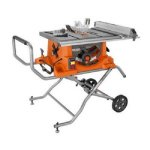 Ridgid ZRR4513 15 Amp 10 in. Portable Table Saw with Mobile Stan