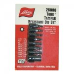 TORX TAMPERPROOF BIT SET 8 PC.1/4IN.DR HOLDER