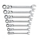 GEARWRENCH FLEX HEAD SAE COMB 7PC