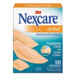 Waterproof, Active Bandages, Assorted Sizes, 50/Box