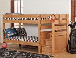 Simply Bunk Beds Twin/Twin Stair Bunk Bed 7087B