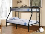 Donco Gloss Black Twin Full Bunk Bed 4502-3BK