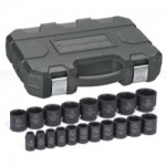 "19 Pc. 1/2"" Drive Impact Socket Set SAE"