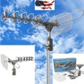 Outdoor 360 Rotation Digital Amplified Antenna TV DTV VHF HDTV U
