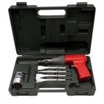 AIR HAMMER KIT; SHOCK REDUCED TOOL W/CHISELS & qc