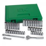 TOOL SET 1/4IN. DRIVE 44PC 6 POINT W/RATCHET