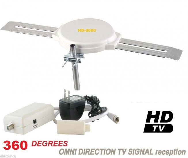 OMNI DIRECTIONAL HD9000 DIGITAL HD TV ANTENNA HDTV UHF DTV - Click Image to Close