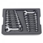 20PC SAE/METRIC STUBBY COMBO WRENCH SET