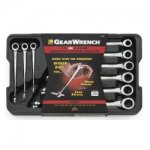 9PC SAE X BEAM RATCHETING COMBO WRENCH SET