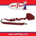 2pt Burgundy Retractable Standard buckle - Each