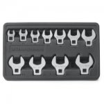 "11PC SAE CROWFOOT WRENCH SET 3/8"" - 1"""