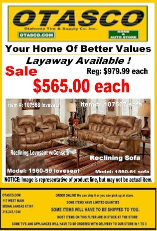 Padre Almond Sofa or Loveseat On Sale $565.00 Each !