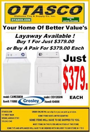 Crosley Washer Dryer Sale !
