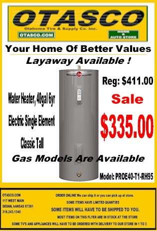 Water Heater Sale Flyer
