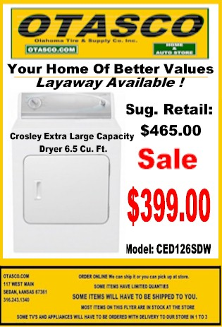 Crosley Dryer Sale Flyers